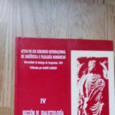 Libros de segunda mano: ACTAS XIX CONGRESO INTERNACIONAL DE LINGÜISTICA E FILOLOXÍA ROMÁNICAS / RAMÓN LORENZO. Lote 51169277