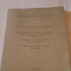 Libros de segunda mano: ACADEMIA CIENCIAS Y ARTES BARCELONA.BOLETIN 39.TEMBLORES DE TIERRA CATALANES.1950.1952.. Lote 51209497