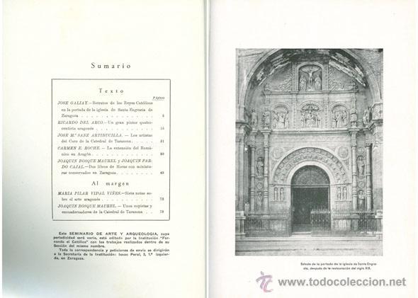 Libros de segunda mano: Seminario de Arte Aragonés. Número I. 1945. - Foto 2 - 51217103