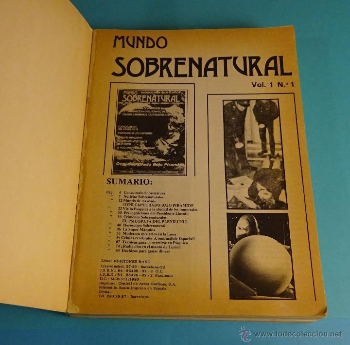 Libros de segunda mano: MUNDO INCÓGNITO. TOMO CON LOS 6 PRIMEROS NÚMEROS DE LA REVISTA MUNDO SOBRENATURAL - Foto 2 - 51248448