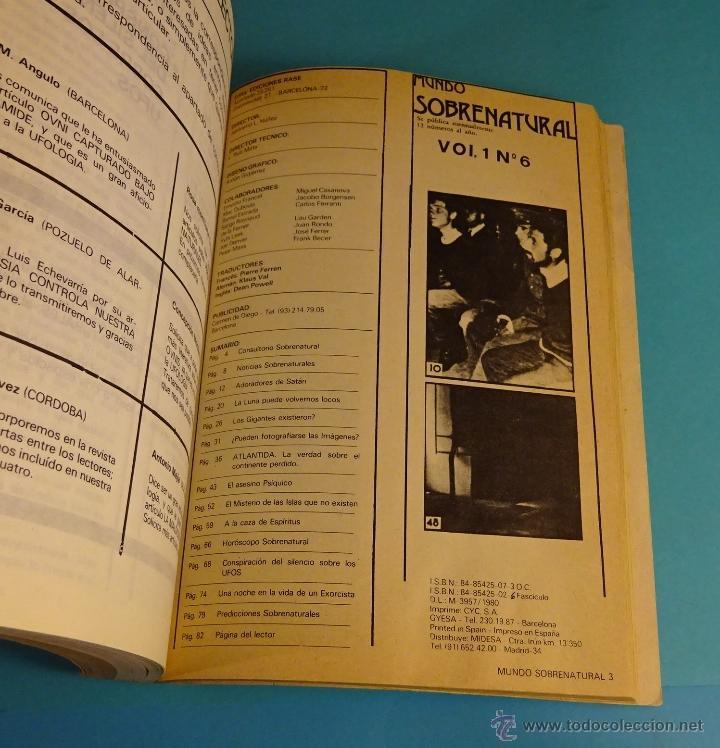 Libros de segunda mano: MUNDO INCÓGNITO. TOMO CON LOS 6 PRIMEROS NÚMEROS DE LA REVISTA MUNDO SOBRENATURAL - Foto 3 - 51248448
