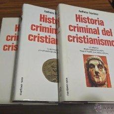 Gebrauchte Bücher: HISTORIA CRIMINAL DEL CRISTIANISMO. KARLHEINZ DESCHNER. MARTÍNEZ ROCA, 1ª EDICIÓN. Lote 137929406