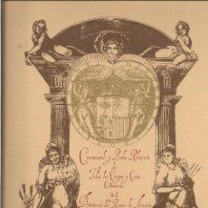 Libros de segunda mano: IBAÑÉZ DE AOYZ: CEREMONIAL Y BREBE RELACION DE TODOS LOS CARGOS DEL REYNO DE ARAGON.... Lote 51602905