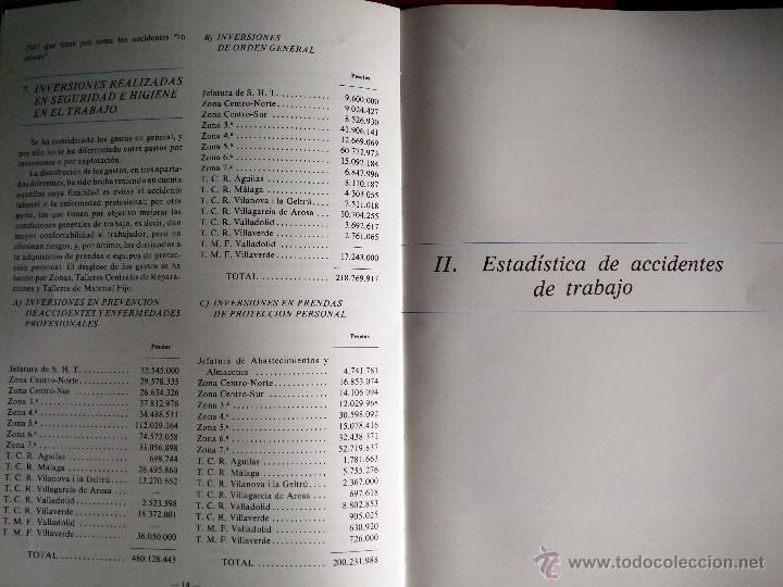 Libros de segunda mano: Renfe - Seguridad e Higiene en el Trabajo 1985 - Estadísticas. - Foto 2 - 51653526