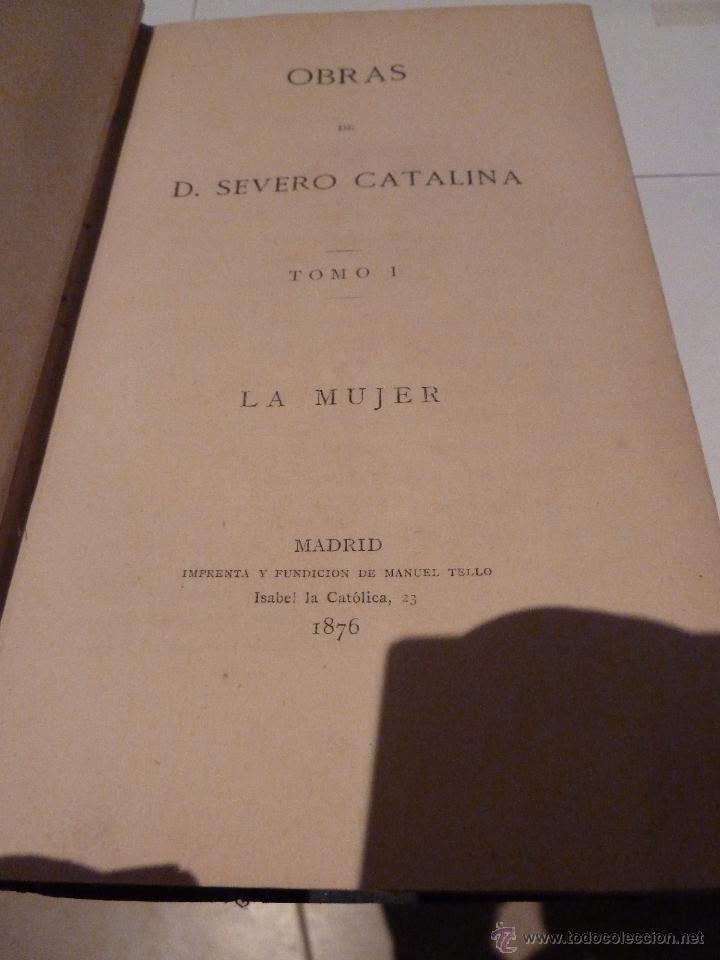 Libros de segunda mano: LA MUJER POR SEVERO CATALINA MADRID 1876 - Foto 12 - 51709814