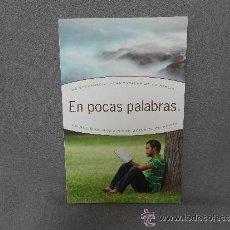 Libros de segunda mano: EN POCAS PALABRAS (LORON WADE). Lote 51716077