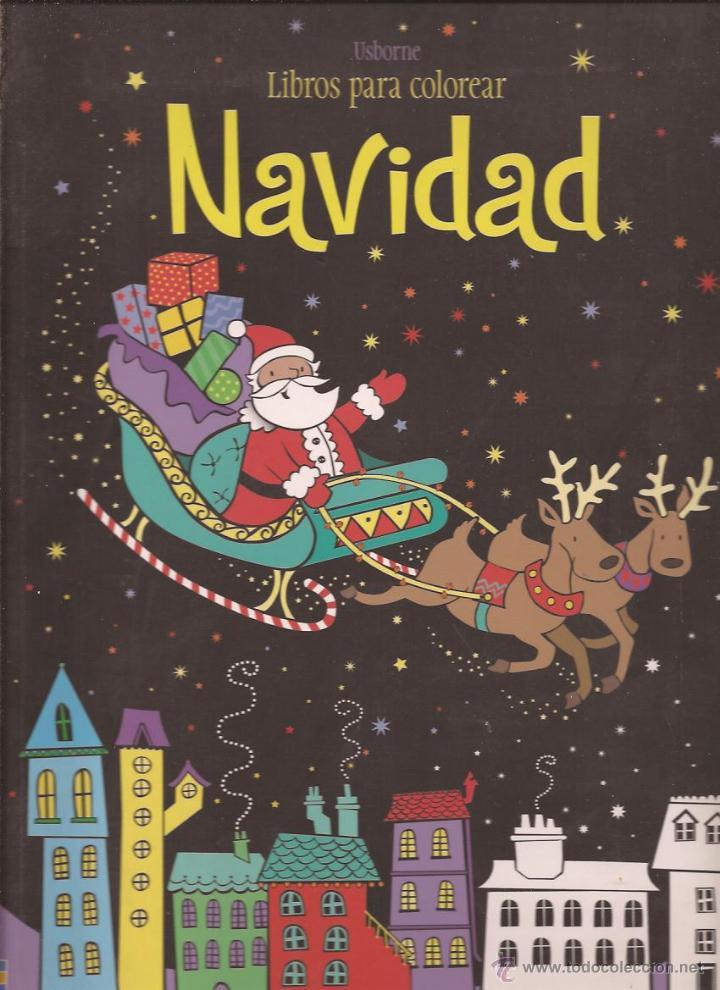libros para colorear. navidad - usborne. diseño - Comprar en ...