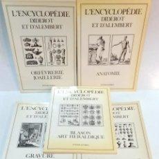 Libros de segunda mano: LOTE 7 LIBROS GRAN FORMATO - L'ENCYCLOPEDIE DIDEROT ET D'ALEMBERT -. INTER-LIURES. VER. Lote 51922610