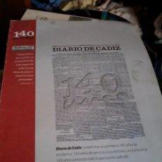 Libros de segunda mano: 140 AÑOS DE DIARIO DE CADIZ. EST11B2. Lote 51942273