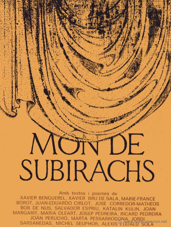 MÓN DE SUBIRACHS. AMB TEXTOS I POEMES AUTORS VARIS. L.LUSTRACIONS, JOSEP Mª. SUBIRACHS; EUMO 1984. (Libros de Segunda Mano - Bellas artes, ocio y coleccionismo - Otros)