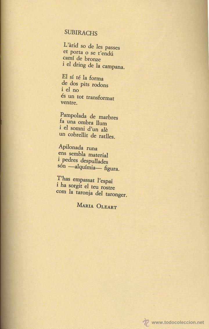 Libros de segunda mano: MÓN DE SUBIRACHS. Amb textos i poemes autors varis. l.lustracions, Josep Mª. Subirachs; EUMO 1984. - Foto 6 - 51999837