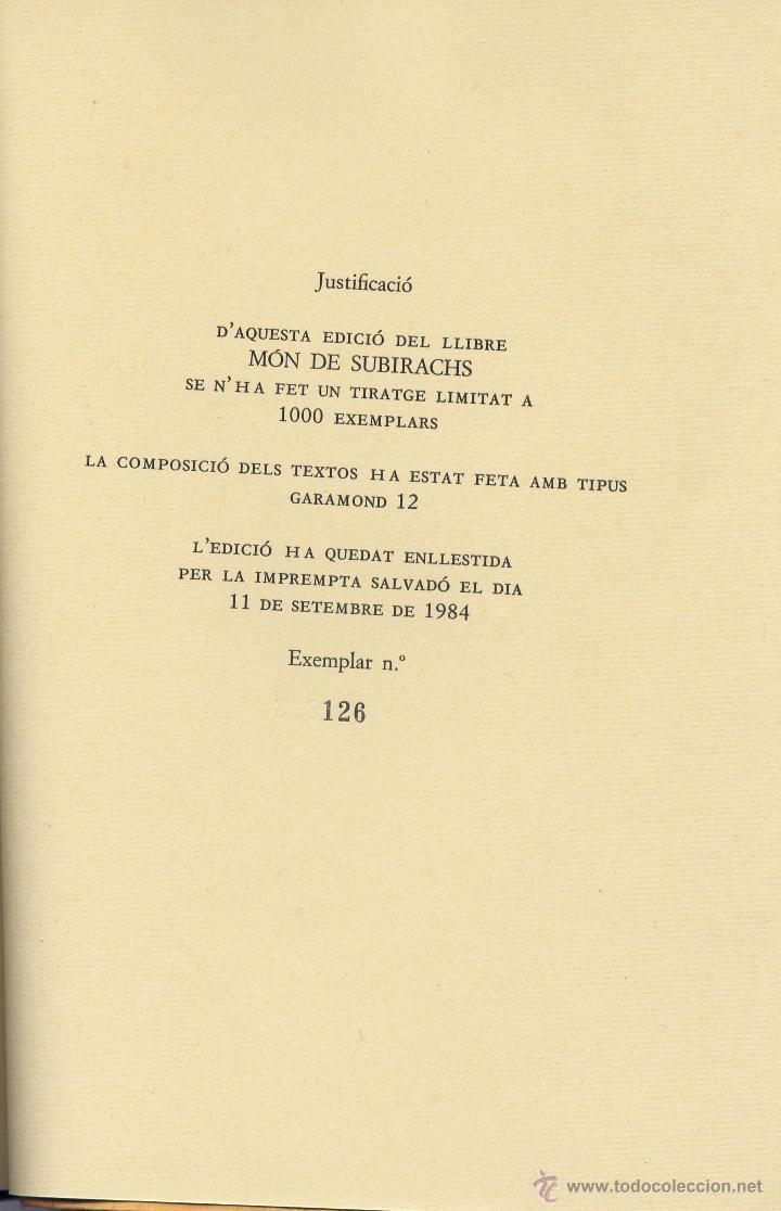 Libros de segunda mano: MÓN DE SUBIRACHS. Amb textos i poemes autors varis. l.lustracions, Josep Mª. Subirachs; EUMO 1984. - Foto 7 - 51999837