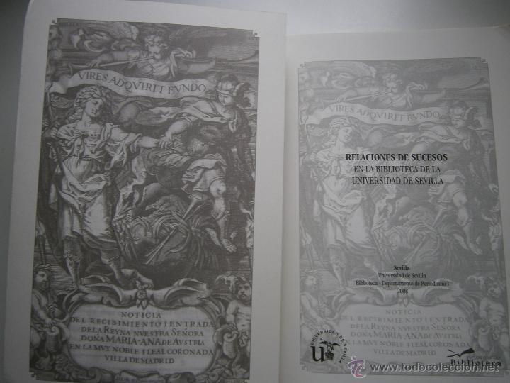 Libros de segunda mano: Relaciones de sucesos en la bus antes de que existiera la prensa Universidad de Sevilla 2008 - Foto 8 - 52008250