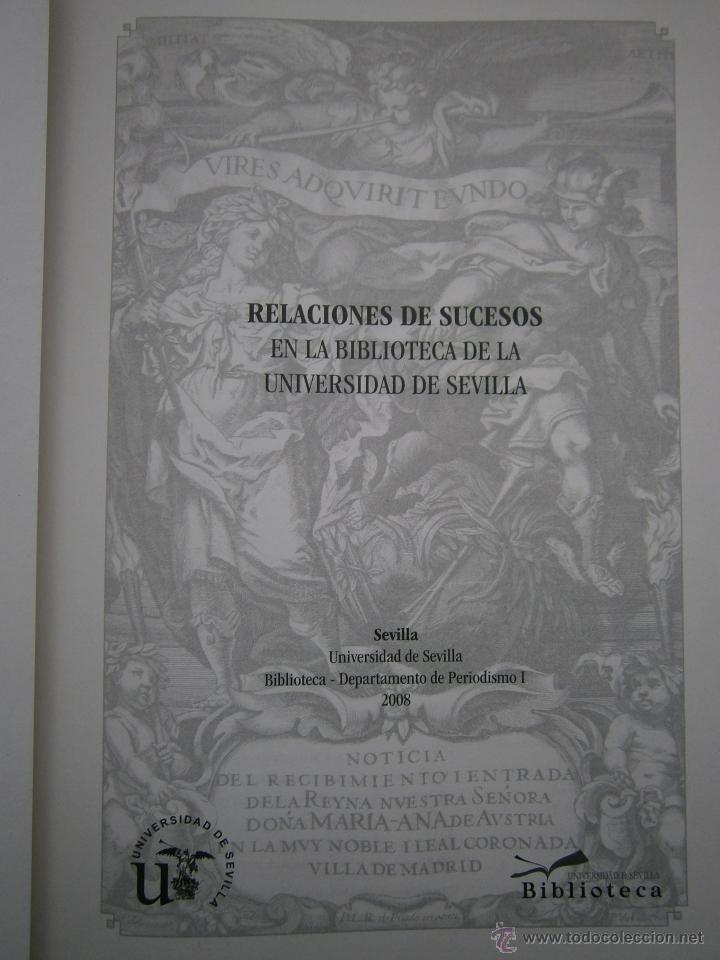 Libros de segunda mano: Relaciones de sucesos en la bus antes de que existiera la prensa Universidad de Sevilla 2008 - Foto 10 - 52008250