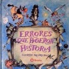 Libros de segunda mano - ERRORES QUE HICIERON HISTORIA - ADAM BOWETT - BRUÑO - 52026767