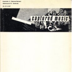Libros de segunda mano: CAPTURED MUSIC. KATALOG. SELEKTION OPTIK, 1987 . Lote 52279789