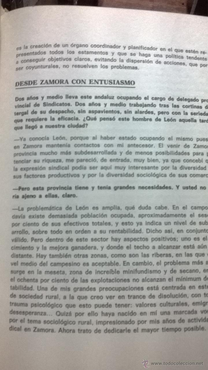 Libros de segunda mano: HABLANDO DE LEON SIN IRA. CHENCHO. LEÓN. 1975. DEDICADO POR AUTOR - Foto 3 - 41502910