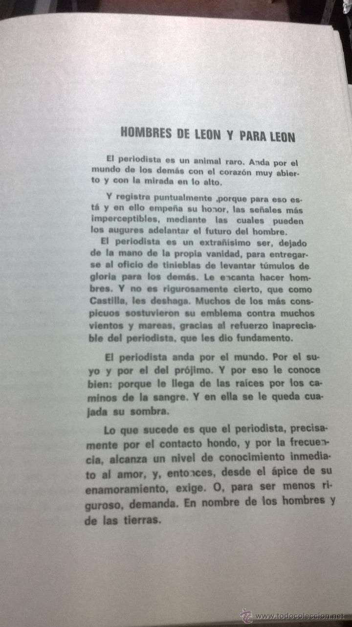 Libros de segunda mano: HABLANDO DE LEON SIN IRA. CHENCHO. LEÓN. 1975. DEDICADO POR AUTOR - Foto 4 - 41502910
