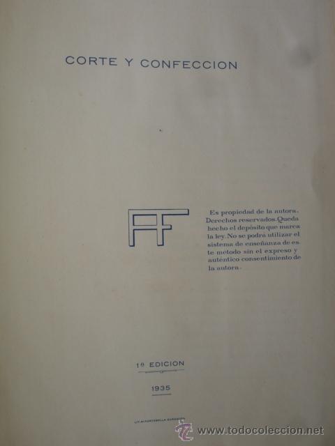 CURSO DE CORTE Y CONFECCION TEOFILA ADRADA.1ª EDICCION 1935.FOLIO.74 PG ILUSTRADO (Libros de Segunda Mano - Ciencias, Manuales y Oficios - Otros)