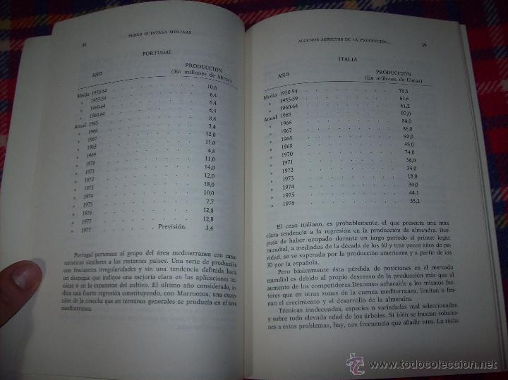 Libros de segunda mano: ALGUNOS ASPECTOS DE LA PRODUCCIÓN DE ALMENDRA EN MALLORCA.PEDRO QUINTANA.1981.ÚNICO EN TC!!!!!!!!!!! - Foto 6 - 52336686