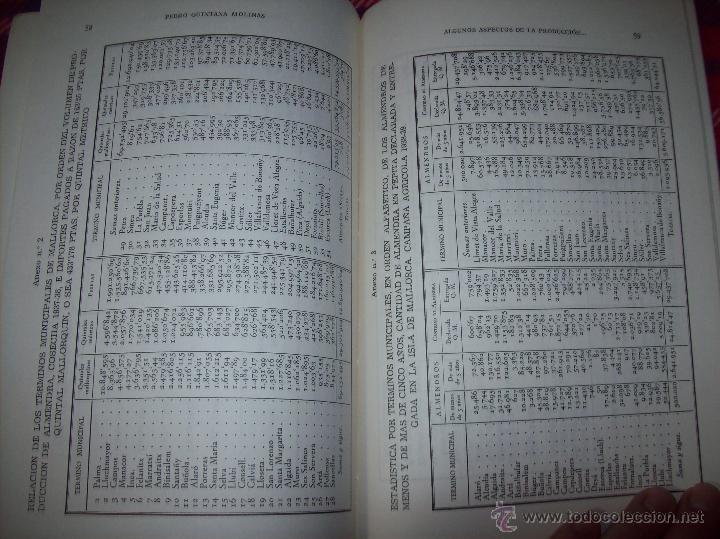 Libros de segunda mano: ALGUNOS ASPECTOS DE LA PRODUCCIÓN DE ALMENDRA EN MALLORCA.PEDRO QUINTANA.1981.ÚNICO EN TC!!!!!!!!!!! - Foto 9 - 52336686