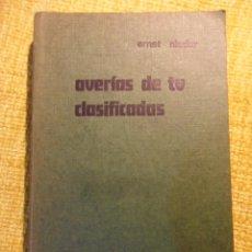 Libros de segunda mano: AVERIAS DE TV CLASIFICADAS. ERNST NIEDER. MARCOMBO. BOIXAREU EDITORES, 1974. RUSTICA. 2ª EDICION. 31. Lote 52396630