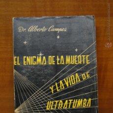 Livres d'occasion: EL ENIGMA DE LA MUERTE Y LA VIDA DE ULTRATUMBA.-VV.AA.. Lote 52413366