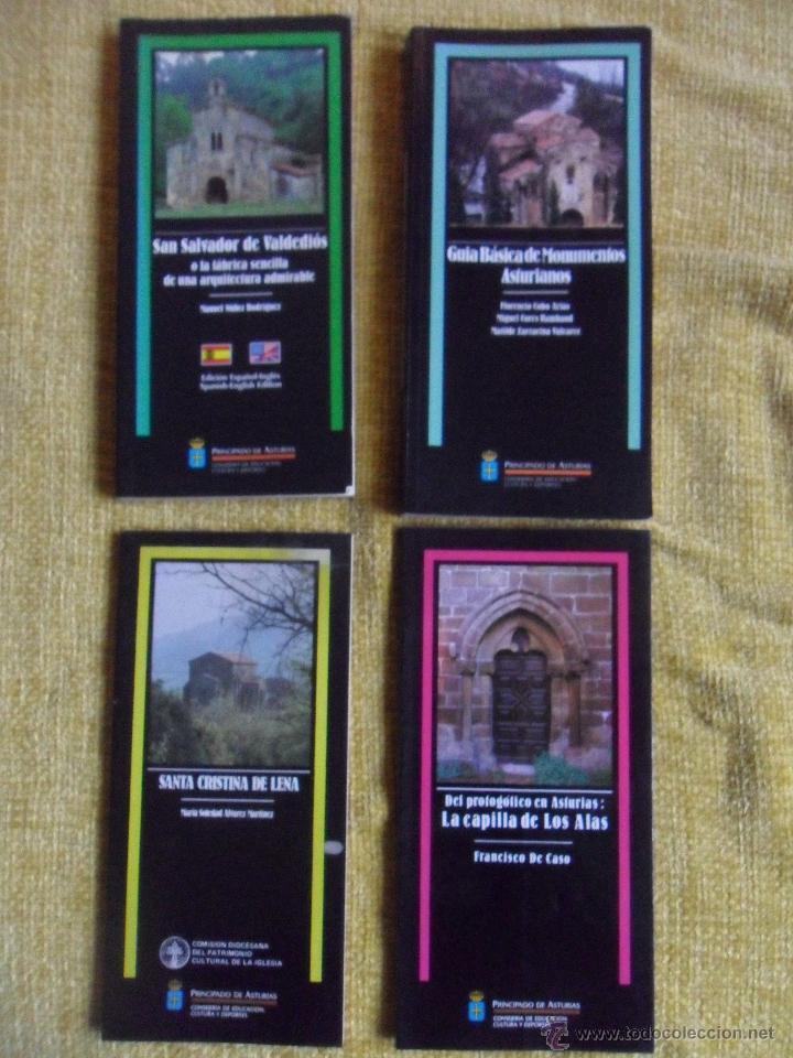 MONUMENTOS ASTURIANOS. LOTE DE 4 LIBROS: SANTA CRISTINA DE LENA - DEL PROTOGOTICO EN ASTURIAS: LA CA (Libros de Segunda Mano - Bellas artes, ocio y coleccionismo - Otros)