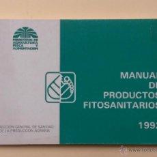 Libros de segunda mano: A051.- MANUAL DE PRODUCTOS FITOSANITARIOS.- 1992. Lote 52451386