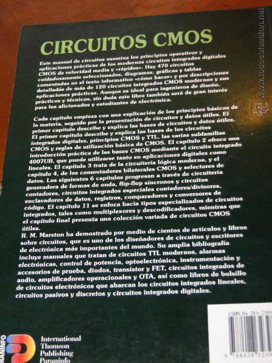 Libros de segunda mano: CIRCUITOS CMOS.--R.M. MARSTON - Foto 2 - 52479747