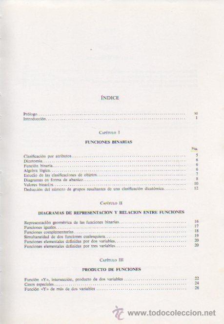 Libros de segunda mano: CIRCUITOS BINARIOS - FRANCISCO COMPANY BUENO. MARCOMBO DE BOIXAREU EDITORES, 1972 - Foto 3 - 52635235