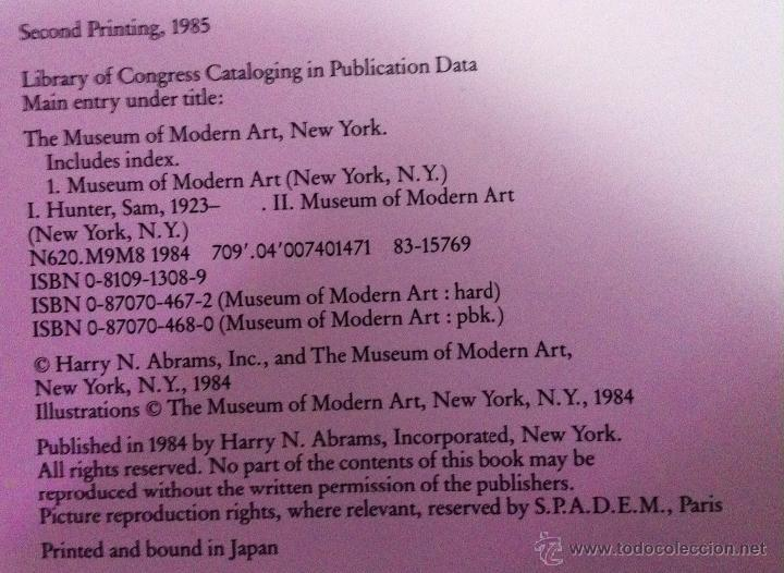 Libros de segunda mano: THE MUSEUM of MODERN ART, NEW YORK. THE HISTORY and the COLLECTION. 1985 - Foto 4 - 52735006