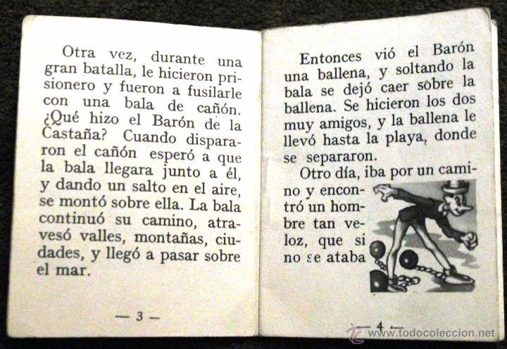 Libros de segunda mano: CUENTO MINIATURA -EL BARÓN DE LA CASTAÑA- Libro 1970 - Foto 4 - 52753901