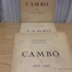 Libros de segunda mano: CAMBO, JESUS PABON , 3 TOMOS. , EDITORIAL ALPHA. Lote 52758463
