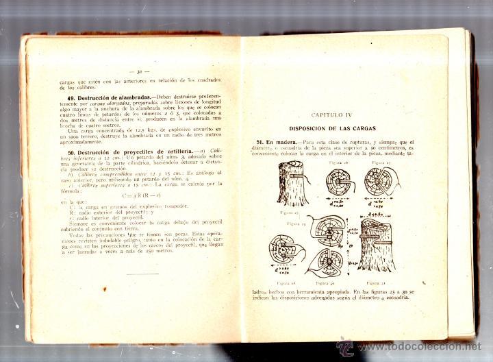 Libros de segunda mano: PRACTICA DEL EXPLOSIVO, DEL ARTIFICIO Y LA MINA. ENRIQUE COBEÑOS GONZALEZ. MADRID. 1941. LEER - Foto 5 - 52809071