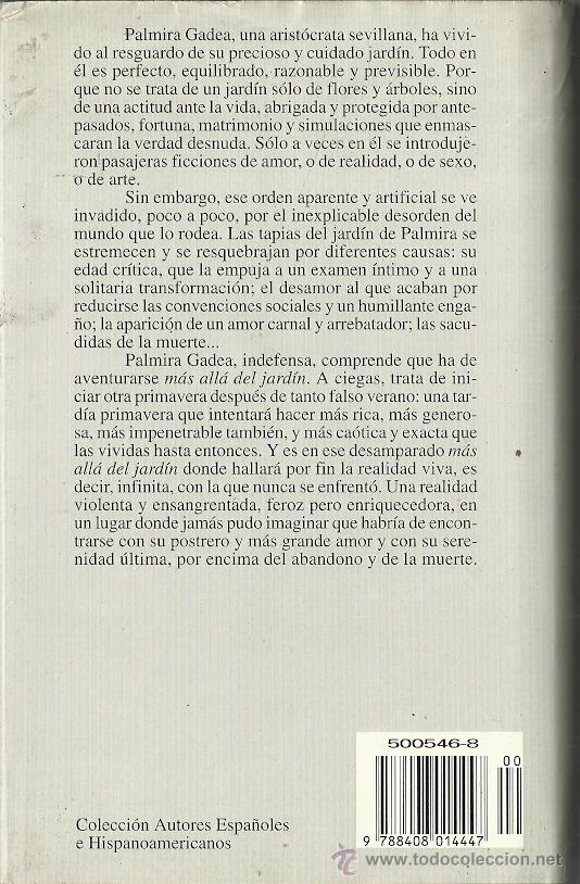 Libros de segunda mano: Antonio Gala-Más allá del jardín.Planeta.1995.Tapa dura con sobrecubierta. - Foto 2 - 52833238