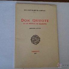 Libros de segunda mano: DON QUIJOTE EN LOS ESTUDIOS DE SALAMANCA - MALDONADO DE GUEVARA - SALAMANCA 1960. Lote 52903199