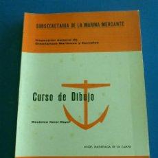 Libros de segunda mano: LIBRO - CURSO DE DIBUJO. MECANICO NAVAL MAYOR. 1968.. Lote 52950198
