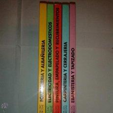 Libros de segunda mano: ENCICLOPEDIA CEAC DEL BRICOLAJE 1 AL 5 COMPLETA FONTANERIA ALBAÑILERÍA ELECTRICIDAD ... 1979 CEAC. Lote 52989099