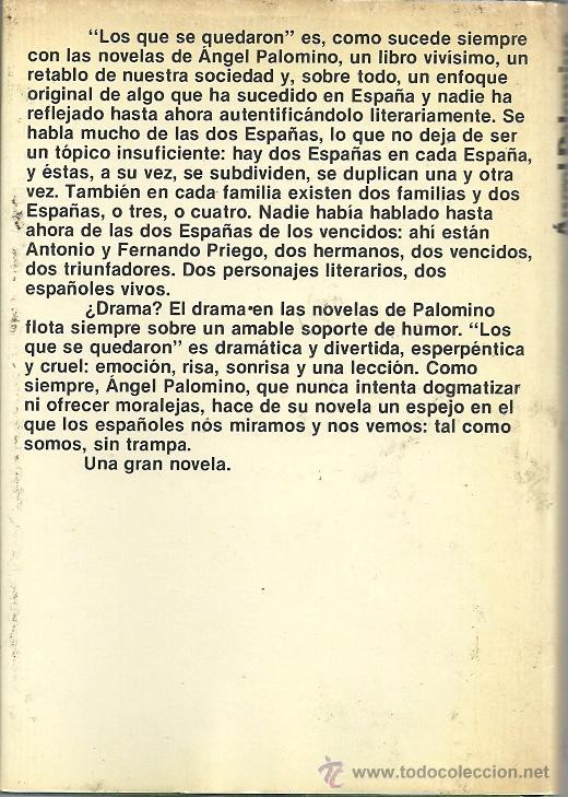 Libros de segunda mano: Ángel Palomino-Los que se quedaron.Planeta.1981.Tapa dura con sobrecubierta. - Foto 2 - 53118753