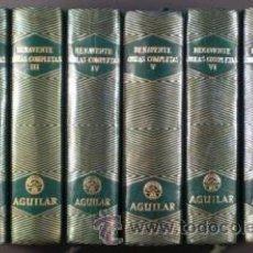 Libros de segunda mano: BENAVENTE, JACINTO: OBRAS COMPLETAS. 8 VOLS. (TOMOS I A VIII, AGUILAR 1943-1950). Lote 53155403