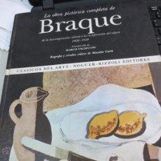 Libros de segunda mano: LA OBRA PICTÓRICA COMPLETA DE BRAQUE Nº 53 EDIT NAGUER AÑO 1976. Lote 53178632
