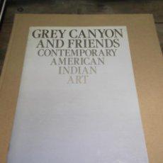 Libros de segunda mano: GREY CANYON AND FRIENDS CONTEMPORARY AMERICAN INDIAN ART 1983 MARY PRIESTER INDIOS AMERICA. Lote 53238449