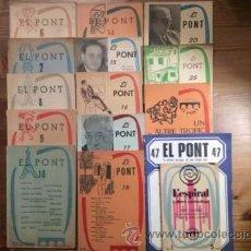 Libros de segunda mano: LOTE 14 TITULOS. COLECCION EL PONT. EDIT ARIMANY.. Lote 53271611