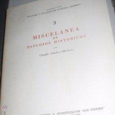 Libros de segunda mano: MISCELANEA DE ESTUDIOS HISTORICOS Nº 3 CLAUDIO SÁNCHEZ- ALBORNOZ AÑO 1970. Lote 53351306
