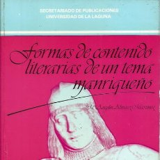 Libros de segunda mano: Mª ÁNGELES ÁLVAREZ MARTÍNEZ. FORMAS DE CONTENIDO LITERARIAS DE UN TEMA MANRIQUEÑO. RM72451. . Lote 53355530