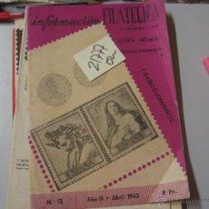 Libros de segunda mano: INFORMACION FILATELICA COLECCIONISMO AÑO II NUM 1219636,20. Lote 53360318