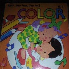 Libros de segunda mano: LIBRO COLOREAR COLOR NUMERO 1. Lote 53376591