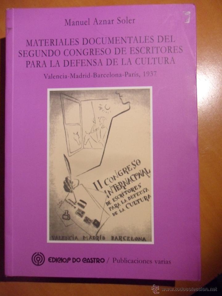 Materiales documentales del segundo congreso de comprar - Libreria segunda mano valencia ...