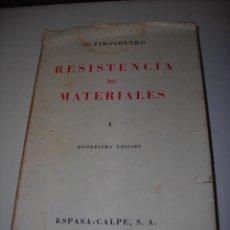 Libros de segunda mano: RESISTENCIA DE MATERIALES DE S. TIMOSHENKO (DUODÉCIMA EDICIÓN).. Lote 53484454